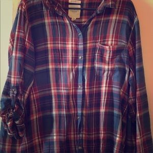 American Eagle Outfitters Plaid Boyfriend Fit XXL
